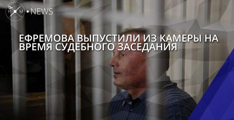 Ефремова выпустили из камеры на время судебного заседания