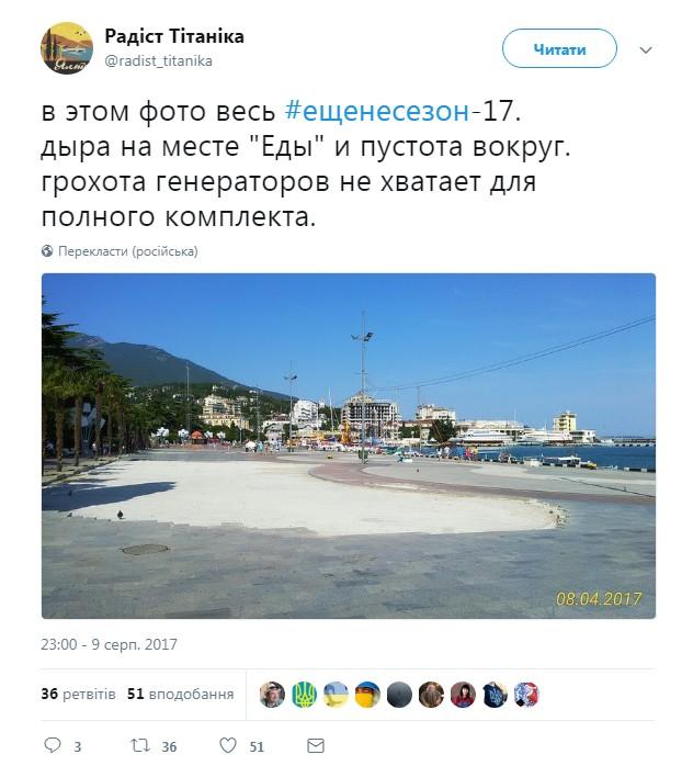 «Высокий несезон» – из крымских сетей