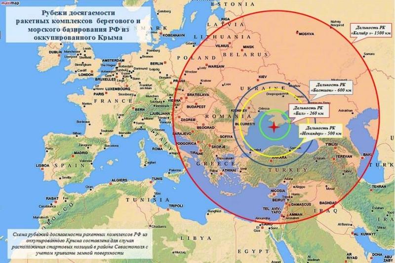Під радіус дії розміщених у Криму російських ракет потрапляють шість країн Європи, - розвідка - Цензор.НЕТ 7944