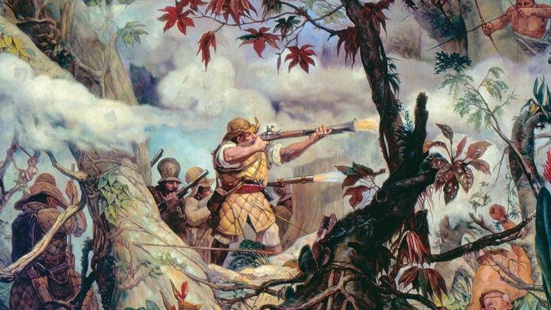 Бой между бандейрантами и гуарани. Партизанская тактика в родных лесах компенсировала разницу в вооружении