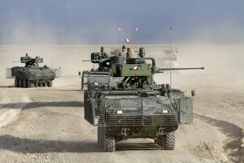 Австрийские БТР в армии Чехии